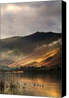 Mountain Scenes Canvas Prints - Lake In Cumbria, England Canvas Print by John Short