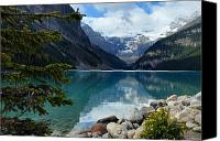 Alberta Landscape Canvas Prints - Lake Louise 2 Canvas Print by Larry Ricker