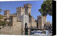 Moat Canvas Prints - Lake Maggiore Sirmione Canvas Print by Joana Kruse
