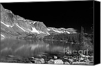 Black Glass Art Canvas Prints - Lake Marie and Company Canvas Print by Nena Trapp