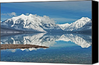Cloud Glass Canvas Prints - Lake Mcdonald Canvas Print by Mark Shaiken - Photography