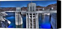 Dam Canvas Prints - Lake Mead Hoover Dam Canvas Print by Jonathan Davison