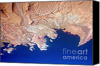 James Insogna Canvas Prints - Lake Mead Shores NV PLANET eARTh Canvas Print by James Bo Insogna