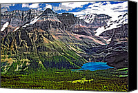 Continental Divide Canvas Prints - Lake OHara paint filter Canvas Print by Steve Harrington