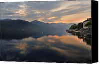 Mountain View Photo Canvas Prints - Lake Orta Canvas Print by Joana Kruse