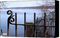 Lake Geneva Wisconsin Canvas Prints - Lake Path Gate Canvas Print by Tom Sherin