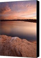 Sandstone  Canvas Prints - Lake Powell Dawn Canvas Print by Mike  Dawson