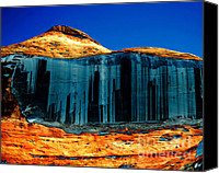 Colorado Artwork Canvas Prints - Lake Powell Stripe Canvas Print by Rebecca Margraf