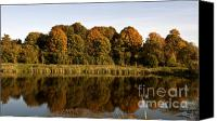 Scenery Pyrography Canvas Prints - Lake rest Canvas Print by Arvydas Kantautas