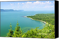 Evergreen Canvas Prints - Lake Superior Canvas Print by Elena Elisseeva