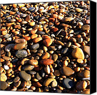 Pebbles Photo Canvas Prints - Lake Superior Stones Canvas Print by Michelle Calkins