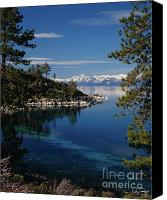 Clear Canvas Prints - Lake Tahoe Smooth Canvas Print by Vance Fox