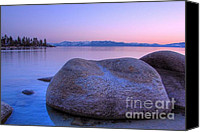 Sierra Canvas Prints - Lake Tahoe Sunset Canvas Print by Scott McGuire