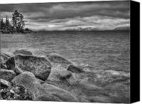 Storm Canvas Prints - Lake Tahoe Winter Storm Canvas Print by Scott McGuire