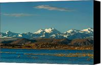 Mountain Canvas Prints - Lake Titicaca and the Cordillera Real in the background.Republic of Bolivia. Canvas Print by Eric Bauer