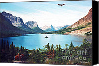 Photorealism Canvas Prints - Lakes Inside Canvas Print by Don Evans