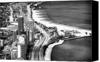 Fotos Canvas Prints - Lakeshore Drive Canvas Print by John Rizzuto