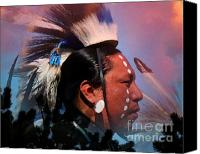 Pow Wow Canvas Prints - Lakota Warrior Canvas Print by Terril Heilman