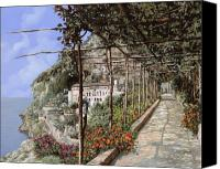 Walkway Canvas Prints - Lalbergo dei cappuccini-Costiera Amalfitana Canvas Print by Guido Borelli