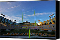 Football Canvas Prints - Lambeau Endzone Canvas Print by Ty Helbach