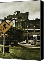 Stadium Digital Art Canvas Prints - Lambeau Field Canvas Print by Michelle Calkins