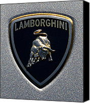 Gull Photo Canvas Prints - Lamborghini Emblem Canvas Print by Paul Ward