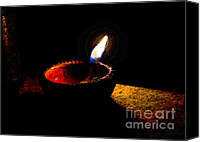 Oil Lamp Canvas Prints - Lamp  Canvas Print by Nilay Tailor