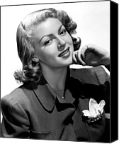 Pajamas Canvas Prints - Lana Turner, 1940s Canvas Print by Everett