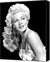 Publicity Shot Canvas Prints - Lana Turner, Mgm, Ca 1940s Canvas Print by Everett