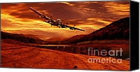 Raf Canvas Prints - Lancaster Over Ouzelden Canvas Print by Nigel Hatton