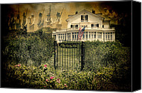 July Canvas Prints - Land of the Free..Home of the Brave Canvas Print by Robin-lee Vieira