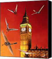 Rocks Canvas Prints - Landing In London Rocks Canvas Print by Eric Kempson