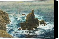 Signed Painting Canvas Prints - Lands End Canvas Print by John Brett