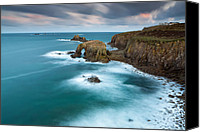 Sennen Canvas Prints - Lands End Canvas Print by Sebastian Wasek