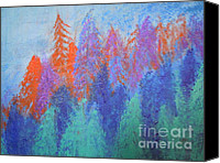 Forest Sculpture Canvas Prints - Landscape- Color Palette Canvas Print by Soho