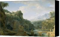 Ancient Greece Painting Canvas Prints - Landscape of Ancient Greece Canvas Print by Pierre Henri de Valenciennes