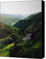 Naturalistic Canvas Prints - Landscape with aspect towards the North Wales coast. Canvas Print by Harry Robertson