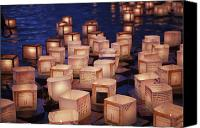 Brandon Tabiolo Canvas Prints - Lantern Floating Ceremony Canvas Print by Brandon Tabiolo - Printscapes