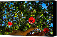 Tlaquepaque Canvas Prints - Lanterns at Tlaquepaque in Sedona Arizona Canvas Print by David Patterson