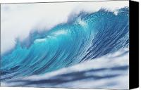 Glimpse Canvas Prints - Large Curling Blue Wave Canvas Print by Ali ONeal - Printscapes