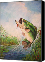 Featured Special Promotions - Largemouth bass Canvas Print by Jose Lugo
