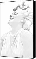 Silver Screen Actress Canvas Prints - Larger than Life Canvas Print by Jenny Hudson