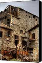 Lonesome Canvas Prints - Larissa Greece Factory Ruin 1 Canvas Print by Deborah Smolinske