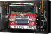 Fire Fighter Canvas Prints - Larkspur Fire Department Fire Engine - Larkspur California - 5D18474 Canvas Print by Wingsdomain Art and Photography