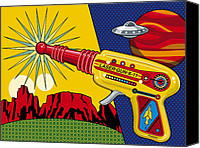 Toys Canvas Prints - Laser Gun Canvas Print by Ron Magnes