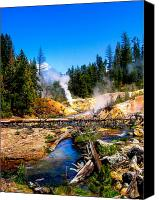 Devil Canvas Prints - Lassen Volcanic National Park Devils Kitchen Canvas Print by Scott McGuire