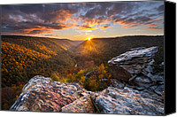 Overlook Canvas Prints - Last Light at Lindy Point Canvas Print by Joseph Rossbach
