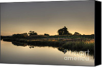 Water Canvas Prints - Last Light of the Day Canvas Print by Dave Gordon