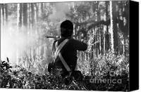 Gunfire Canvas Prints - Last man standing Canvas Print by David Lee Thompson