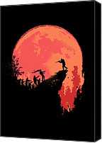 Zombie Digital Art Canvas Prints - Last Stand Canvas Print by Budi Satria Kwan